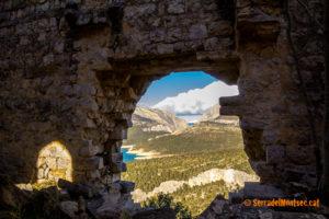 Les vistes des de la Torre de les Conclues son espectaculars. Corçà, La Noguera. Lleida, Catalunya. Montsec d'Ares.