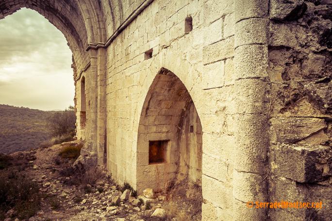 Capella lateral de Santa Margarida de Privà, Vilanova de la Sal. La Noguera, Lleida. Catalunya. Aspres del Montsec.