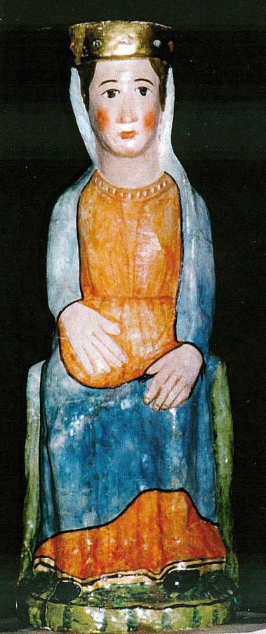 Talla de la Mare de Déu del Congost. Després de la restauració realitzada el 1999, la imatge va ser col·locada a l'església parroquial de Sant Martí d'Areny.