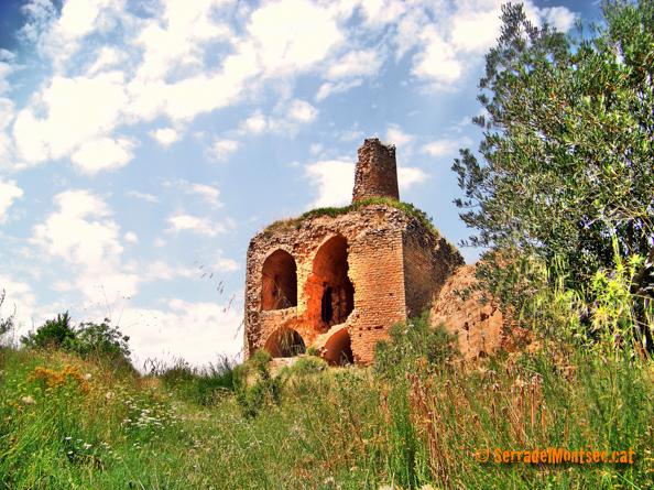 """Castell de la Mare de Déu de la Torre (conegut popularment com """"la Carlana""""). Alòs de Balaguer, La Noguera. Lleida, Catalunya. Montsec de Rúbies."""