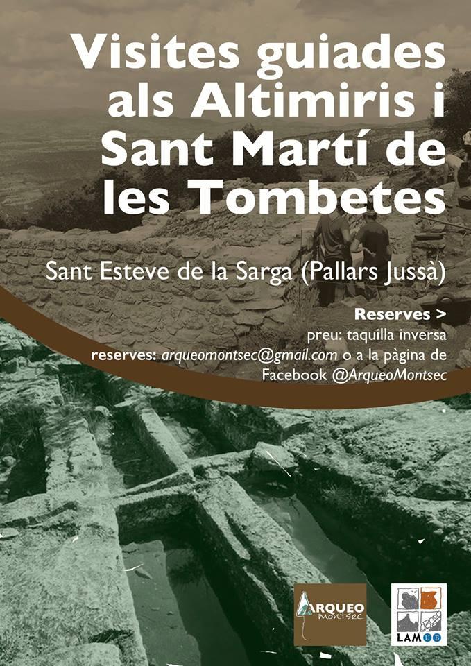 Visites Guiades a Sant Martí de les Tombetes. Moror, Pallars Jussà, Montsec d'Ares.