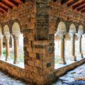 Claustre de Santa Maria de Mur, Castell de Mur. Pallars Jussà, Lleida. Catalunya. Montsec de l'Estall.