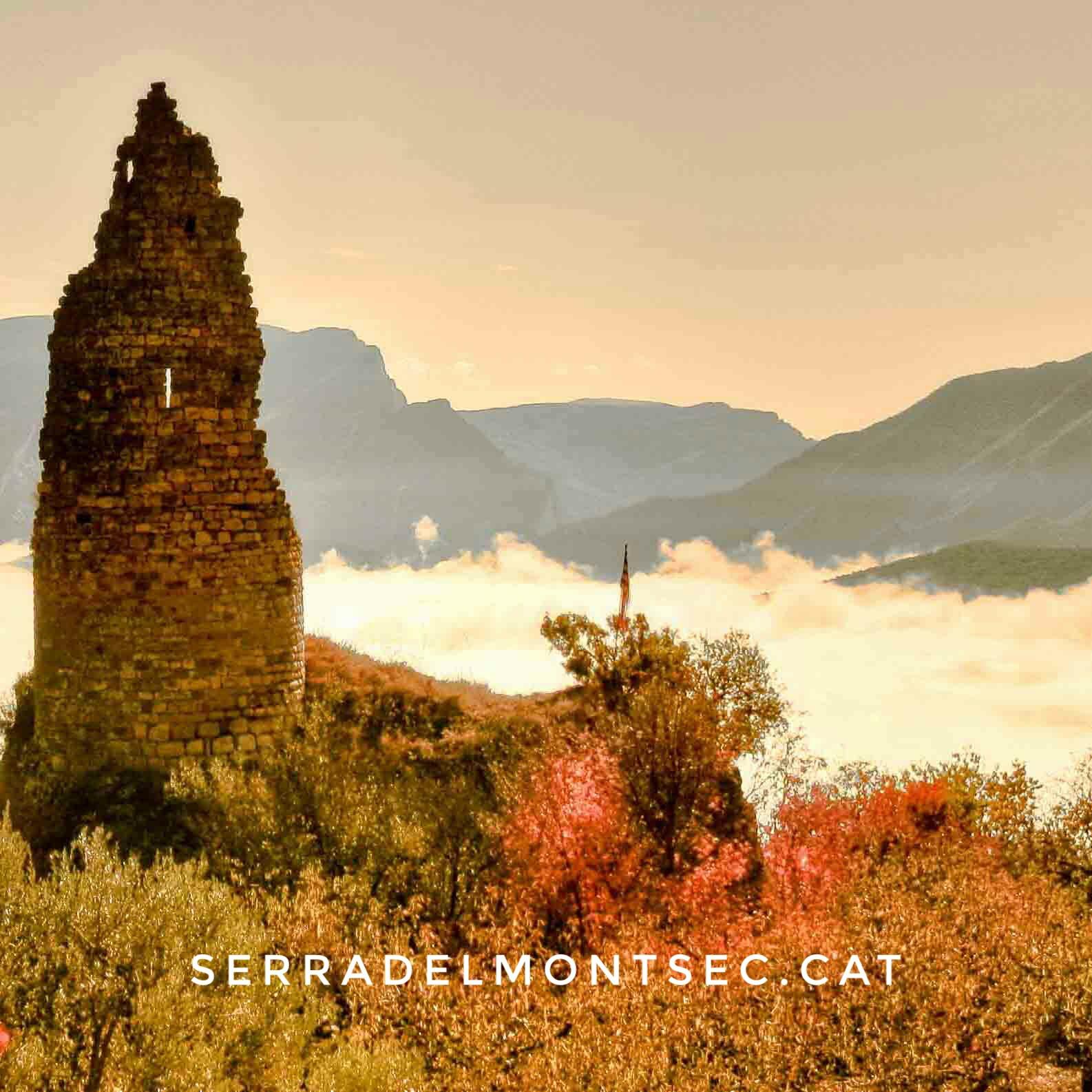 Torre d'Estorm, Sant Esteve de la Sarga. Pallars Jussa. Lleida, Catalunya. Montsec d'Ares.