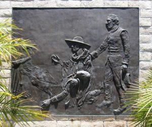 """Monument commemoratiu de l'arribada de les expedicions de Gaspar de Portolà a San Diego el 1769. El monument es troba a prop d'on el """"Sant Antoni"""" va encorar a la badia de San Diego el 4 de maig de 1769."""