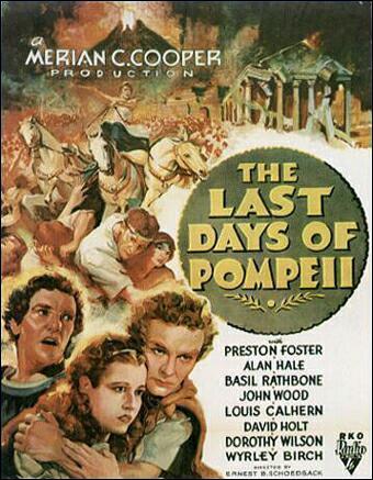 Cartell publicitari de la película 'Els últims dies de Pompeia', rodada en part a Gerb. Os de Balaguer, La Noguera, Lleida. Montsec.
